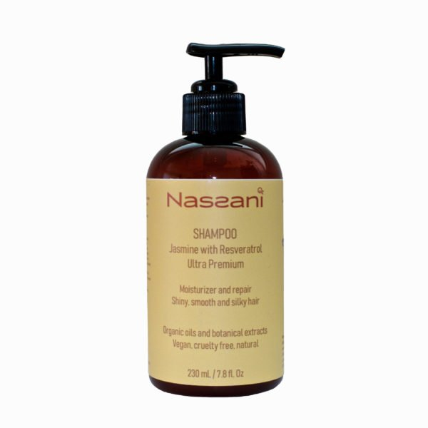 Natural shampoo jasmine with resveratrol