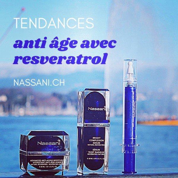 Crème anti âge avec resvératrol