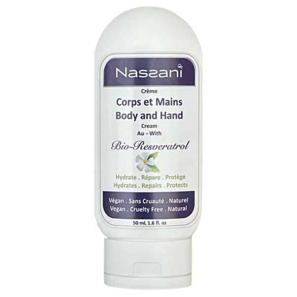 Crème mains et corps naturelle avec resvératrol